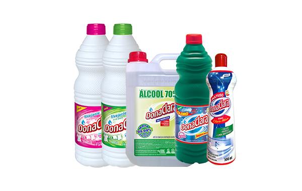 Representação de produtos de limpeza